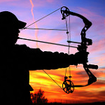 photo of bow hunter aiming, by Kansas Tourism (Creative Commons) www.flickr.com/photos/travelks/8187487953/